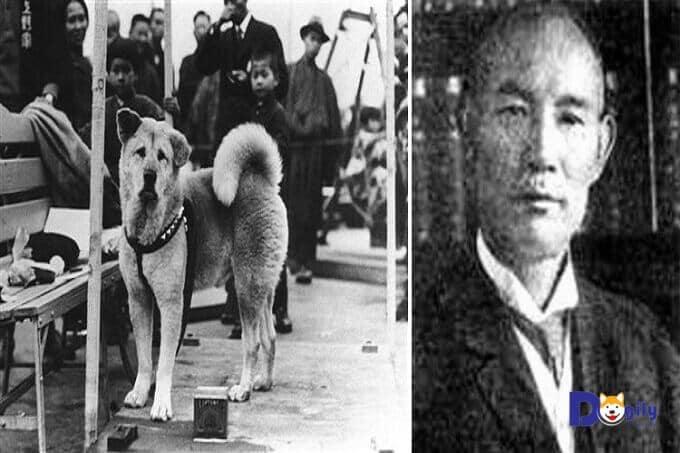 Chú chó Hachiko và chủ nhân: Giáo sư Ueno.