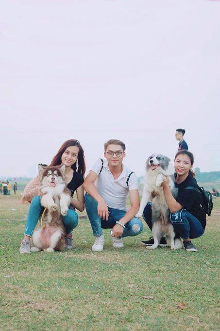 Dogily Petshop tham gia offline giao lưu Hội người nuôi chó Border Collie tại bãi sông Hồng, Hà Nội...