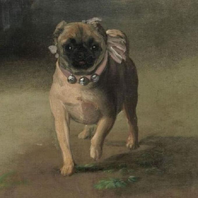 Chó_pug_trong_kiệt_tác_của_danh_họa_Goya_thế_kỷ_17