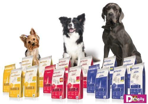 Fitmin có 3 dòng sản phẩm thức ăn cho chó.: Maxi cho giống chó lớn, Medium cho giống chó cỡ vừa và Mini cho các giống chó nhỏ