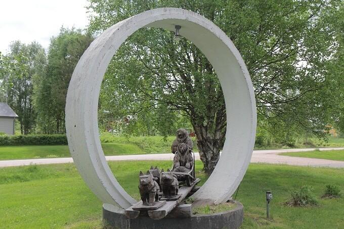Tượng đài đàn chó husky huyền thoại của Leonhard Seppala