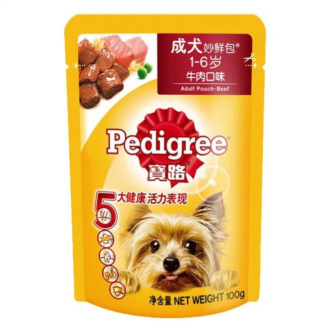 Pate Pedigree cho chó trưởng thành vị thịt bò
