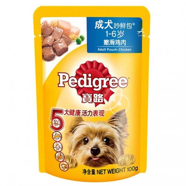 Pate Pedigree cho chó trưởng thành vị thịt gà