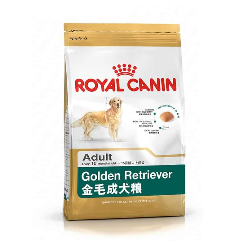Hình ảnh gói thức ăn cho chó Golden Retriever trưởng thành của Royal Canin.