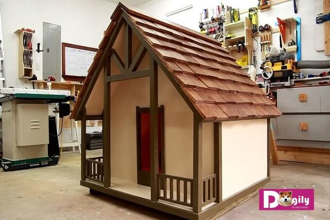 Công việc làm chuồng chó bằng gỗ tuy tương đối vất vả. Nhưng thành quả thu được thật tuyệt vời như mẫu chuồng gỗ này