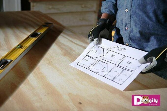 Điều quan trọng nhất trong cách làm chuồng chó bằng gỗ chính là bản vẽ thiết kế đầu tiên