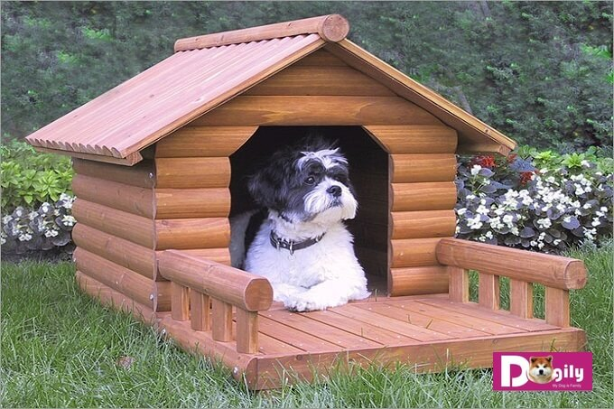 Mẫu chuồng gỗ cho chó nhỏ nhắn phù hợp với các dòng chó nhỏ như Poodle Toy, Phốc sóc..