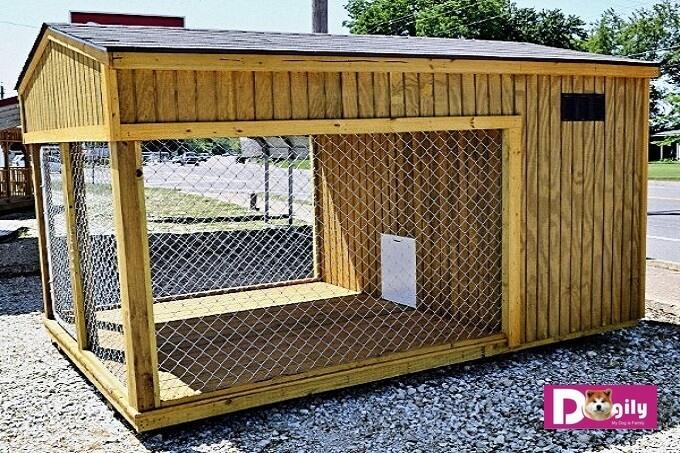 Mẫu chuồng chó bằng gỗ size đại dành cho chó lớn như Alabai, Alaska Malamute, Ngao Tạng...