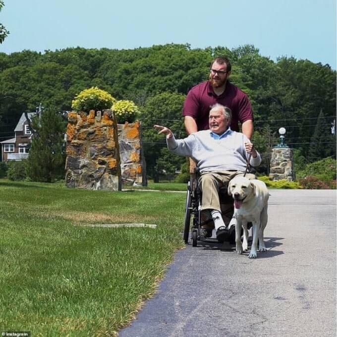 Chú chó Labrador Sully thực sự là một người bạn tri kỷ của Tổng thống Bush trong những năm tháng cuối cùng của cuộc đời