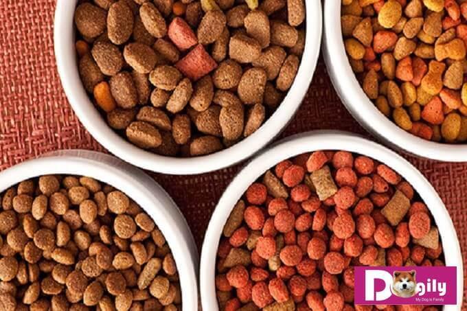 Các loại thức ăn hạt khô cho chó được làm dưới dạng viên