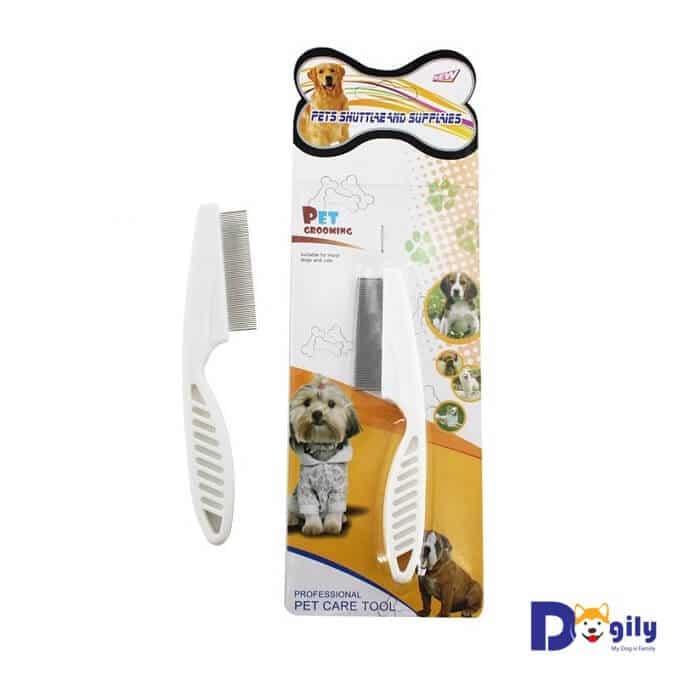 Hình ảnh một mẫu lược chải lông có ve rận cho chó mèo đang bán tại hệ thống Dogily Petshop.