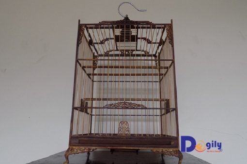Bán lồng chim được làm bằng gỗ muồng