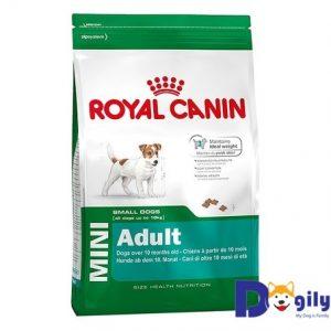 ROYAL CANIN MINI ADULT Dành cho chó kích cỡ Mini (cân nặng tối đa dưới 10kg) và đang trong lứa tuổi Adult từ 10 tháng tuổi trở lên. Thức ăn dành riêng cho chó ROYAL CANIN Mini Adult được thiết kế để đáp ứng các nhu cầu dinh dưỡng cụ thể của các giống chó kích cỡ nhỏ có cân nặng dưới 10kg khi trưởng thành và có độ tuổi trên 10 tháng.