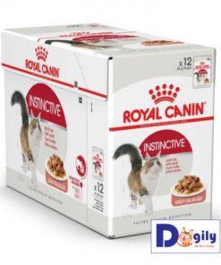 Sản phẩmThức ăn dạng ướt Royal Canin Instinctive dành cho các bé mèo trưởng thành trên 1 tuổi. Công thức mới được mèo yêu thích hơn Tăng trọng lượng khỏe mạnh 100% dinh dưỡng cân bằng Bảo đảm 100% đạt mức độ hài lòng