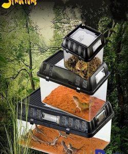 Chất liệu: Nhựa trơn rất thích hợp để nuôi các loại bò sát cảnh Trăn, rắn, nhện, bọ cạp, ếch