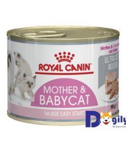 Tác dụng của Pate cho mèo Royal Canin Mother & Babycat Pate cho mèo Royal Canin Mother & Babycat hỗ trợ sức khỏe cho mèo mẹ mang thai và mèo con bằng cách cung cấp nguồn dinh dưỡng cần thiết.