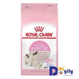 Royal Canin Mother & Babycat là nguồn thức ăn viên cung cấp đầy đủ chất dinh dưỡng cho mèo cưng
