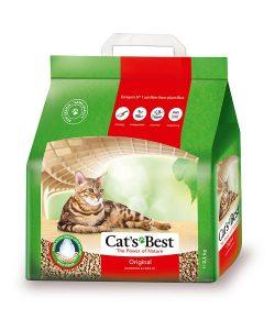 Cat's Best Original vón cục, thấm hút chất lỏng gấp 7 lần thể tích cát, khóa chặt mùi hôi và vi khuẩn trong một thời gian dài nhờ hệ thống mao dẫn của sợi cây, giải pháp tiết kiệm và an toàn cho cả người, mèo và môi trường.