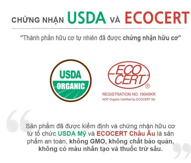 Chứng nhận USDA và ECOCERT