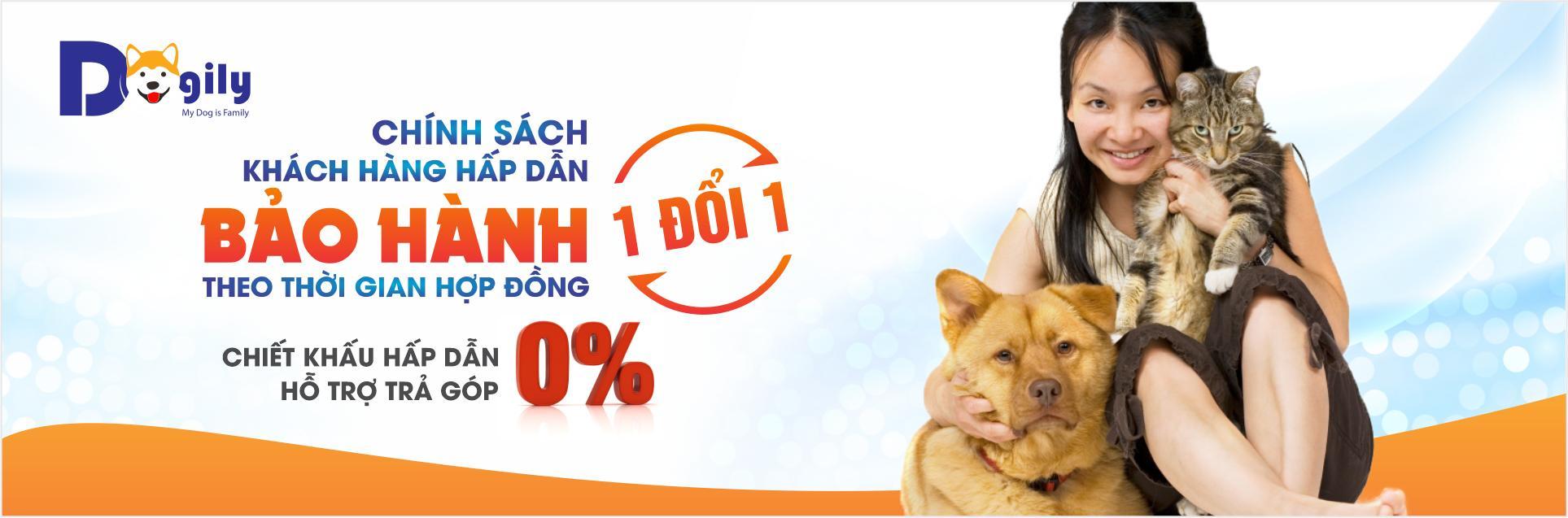 Tại Dogily Petshop, chúng tôi bảo hành sức khỏe 1 đổi 1 trong thời gian hợp đồng và hỗ trợ trả góp lãi suất 0 %, cùng chiết khấu giảm giá và nhiều chương trình khuyến mại hấp dẫn khi mua bán chó cảnh tại hệ thống các cửa hàng ở Tphcm và Hà nội.