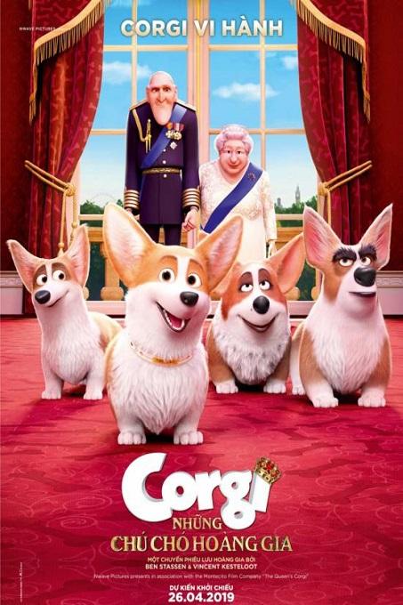 Poster Film những chú chó hoàng gia - The Queen's Corgi.