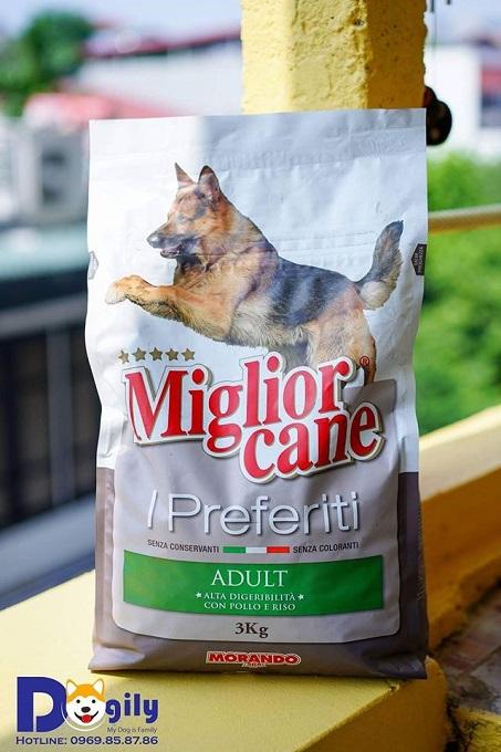 Sản phẩm thức ăn hạt khô cho chó Becgie Morando được bán tại cửa hàng Dogily Petshop.