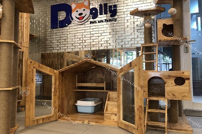 Một mẫu nhà ở cho chó được thiết kế và bán tại Dogily Petshop.