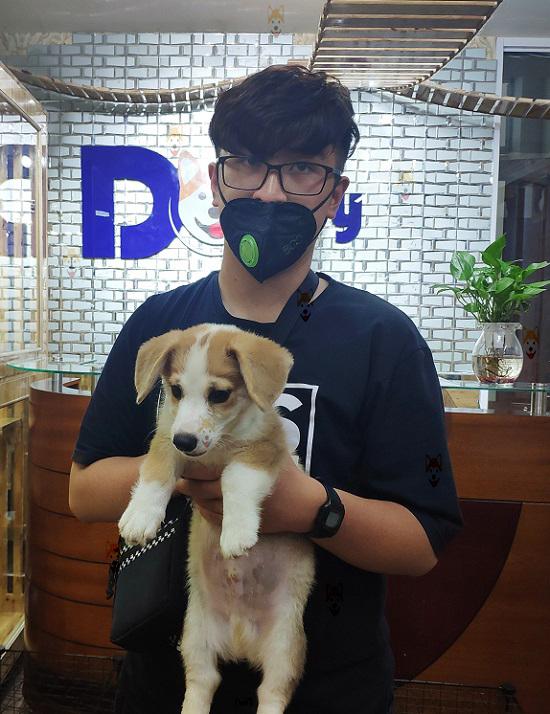 Khách hàng mua chó con tại Dogily Petshop