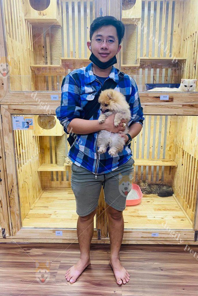 khách mua chó tại dogily petshop